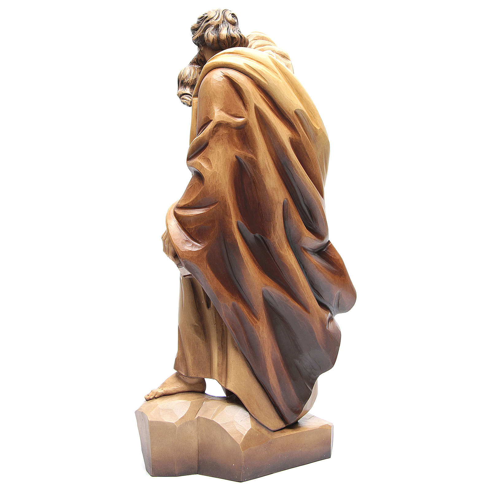 San Pablo de madera, acabado con diferentes matices de marrón 4