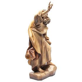 San Pablo de madera, acabado con diferentes matices de marrón s4