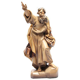 Saint Paul wooden statue in shades of brown s1