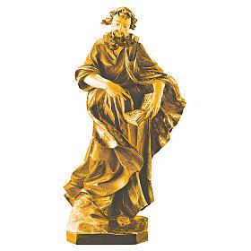 Saint Matthieu en bois nuances de marron s1