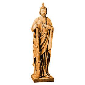 Statua di San Giuda in legno varie tonalità marrone s1