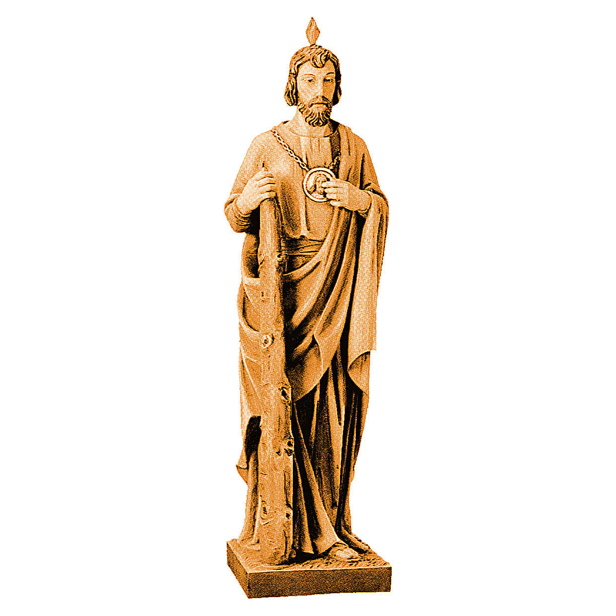 St Judas wooden statue in shades of brown 4