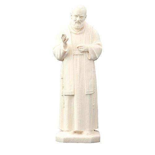 San Padre Pio da Pietrelcina in legno naturale 1