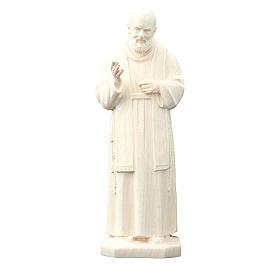 święty Ojciec Pio z Pietrelciny drewno naturalne s1