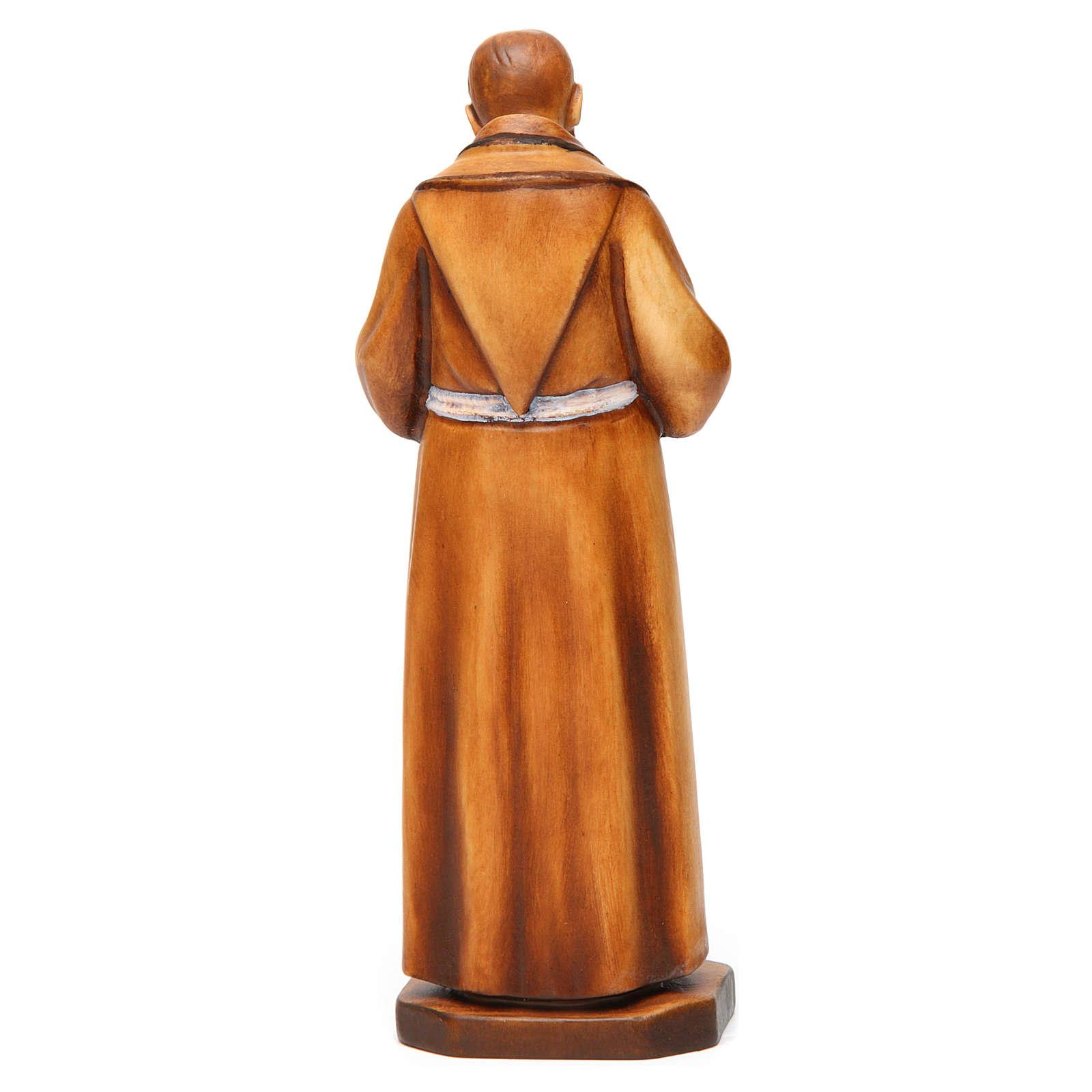 Saint Pio de Pietrelcina en bois nuances de marron 4