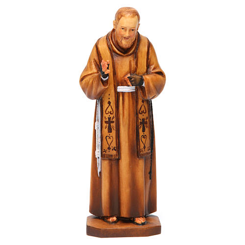 Saint Pio de Pietrelcina en bois nuances de marron 1