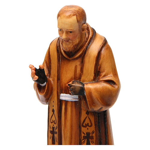 Saint Pio de Pietrelcina en bois nuances de marron 2