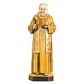 San Padre Pio da Pietrelcina diverse tonalità marroni legno s1