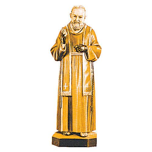 San Padre Pio da Pietrelcina diverse tonalità marroni legno 1