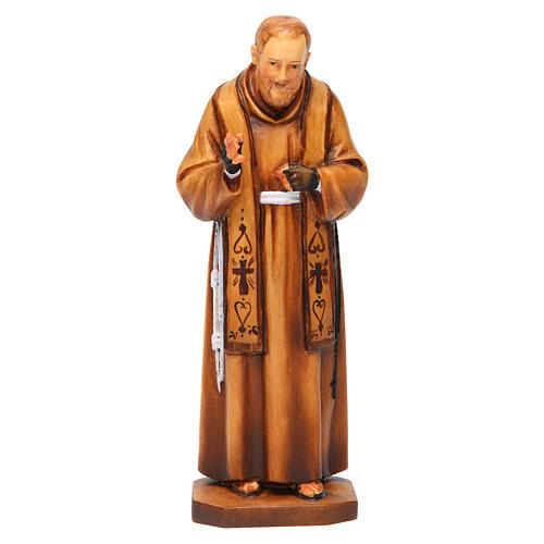 święty Ojciec Pio z Pietrelciny drewno różne odcienie brązu 1