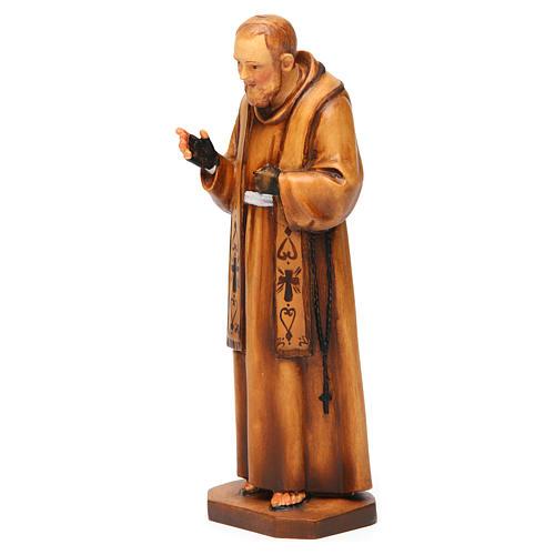 święty Ojciec Pio z Pietrelciny drewno różne odcienie brązu 3