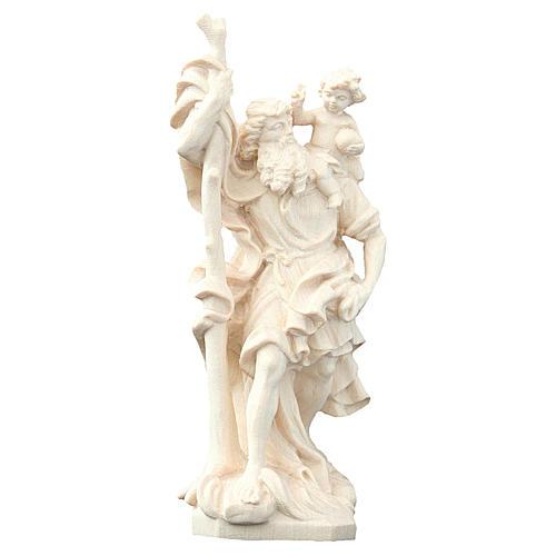 San Cristoforo in legno naturale 1