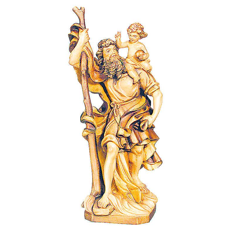 San Cristoforo in legno varie tonalità di marrone 4