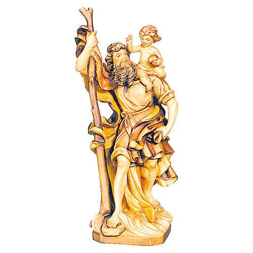 San Cristoforo in legno varie tonalità di marrone 1