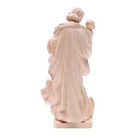 Saint Joseph with baby statue in natural wood s4