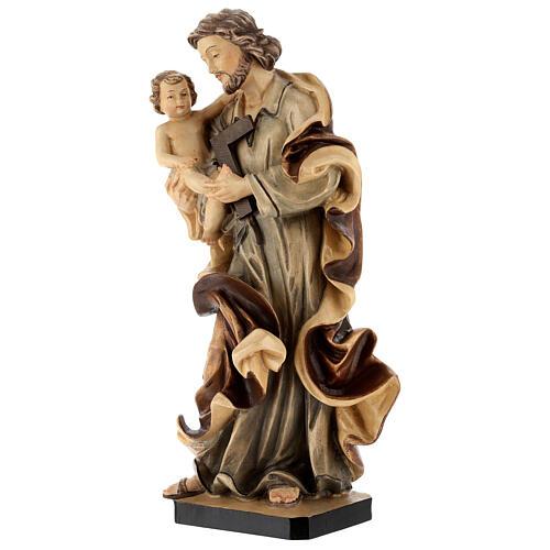 San Giuseppe con Bambino legno diverse tonalità di marrone 3