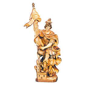 San Floriano varie tonalità di marrone in legno s1