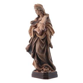 Sainte Cécile nuances de marron en bois s4