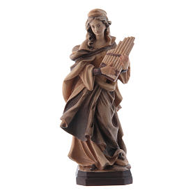 Santa Cecilia tonalità varie di marrone in legno s1