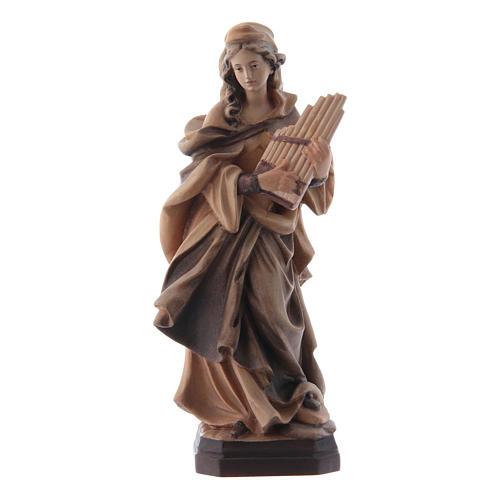 Santa Cecilia tonalità varie di marrone in legno 1