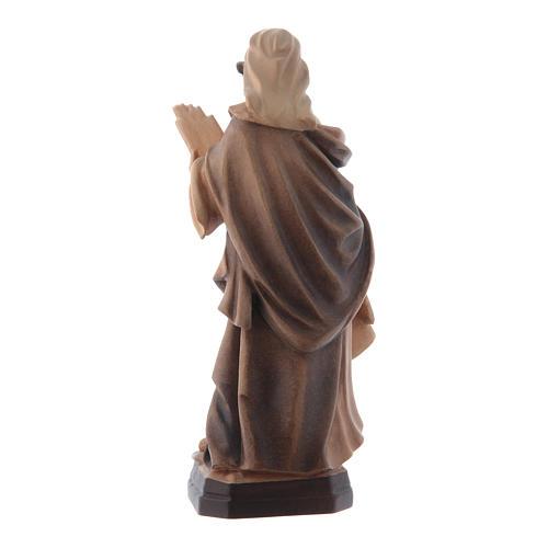 Santa Cecilia tonalità varie di marrone in legno 3