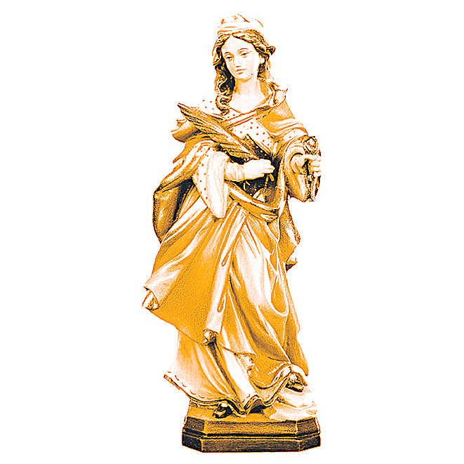 Santa Apollonia in legno marrone chiaro scuro 4