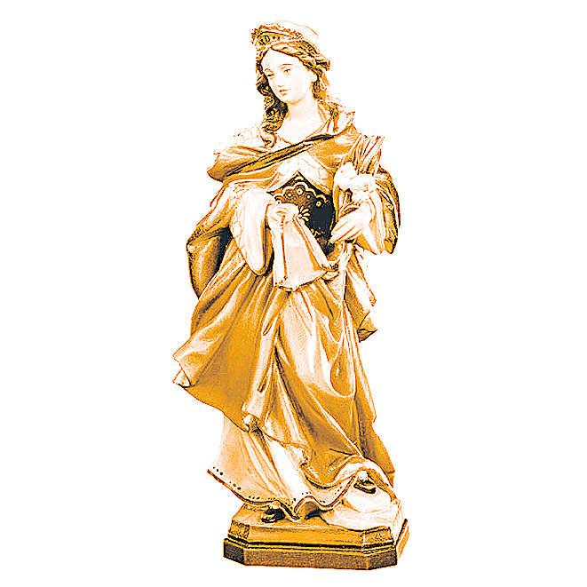 Sainte Véronique en bois différentes tonalités de marron 4