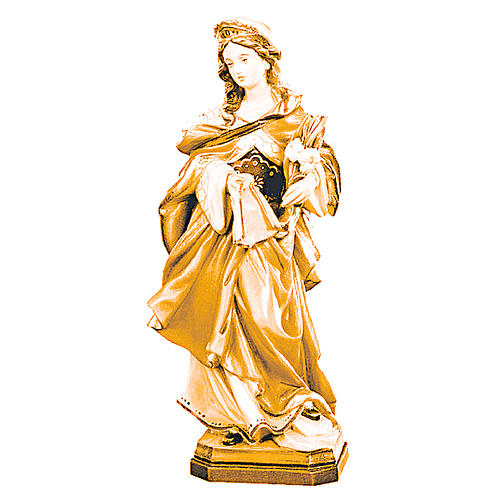 Sainte Véronique en bois différentes tonalités de marron 1