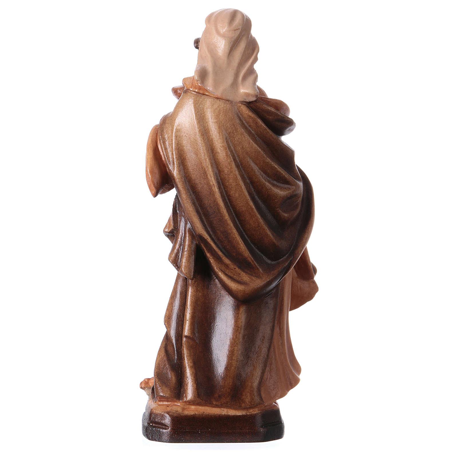 Santa Magdalena de madera, acabado con diferentes matices de marrón 4