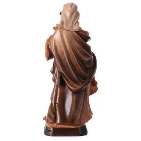 Santa Maddalena in legno colorato tonalità differenti marroni s5