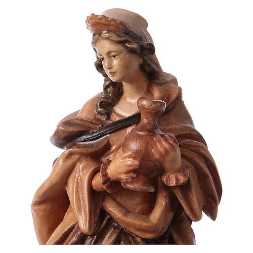 Santa Maddalena in legno colorato tonalità differenti marroni 2