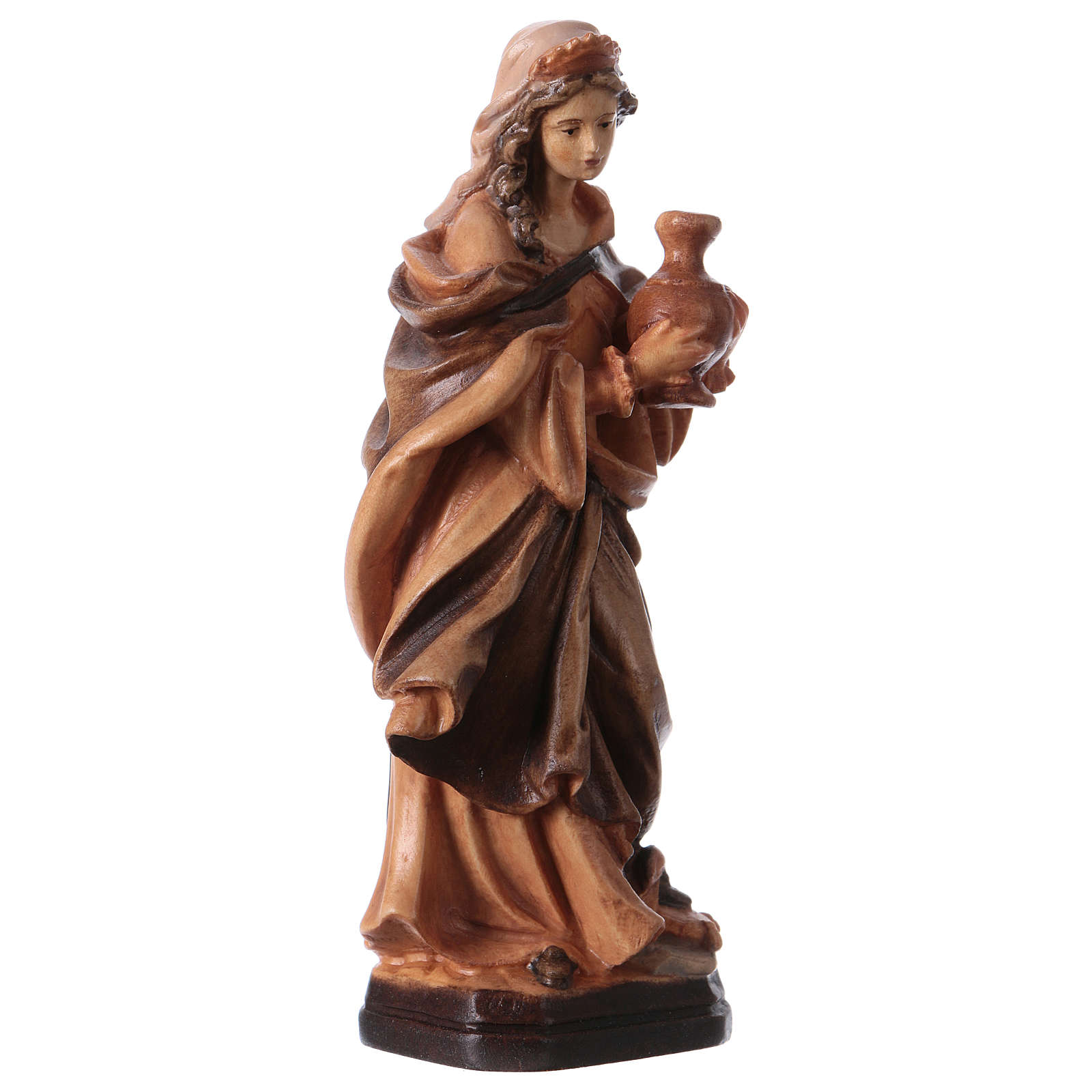 Saint Mary Magdalene wooden statue in shades of brown 4