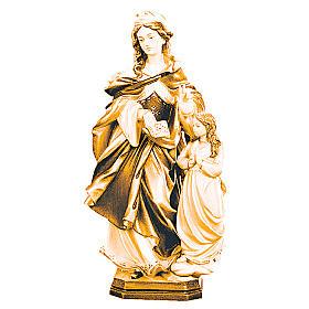 Statua Santa Anna con bimba in legno di diversi marroni s1