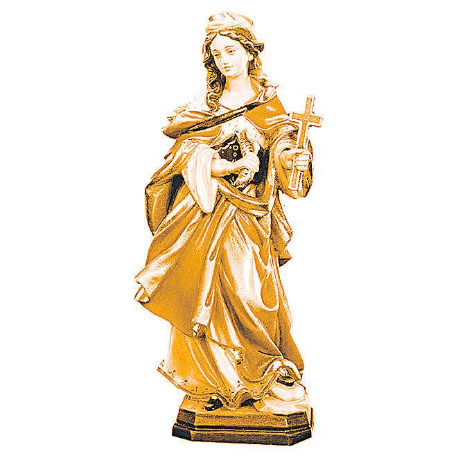 Sainte Marguerite avec croix bois différentes nuances brun 4