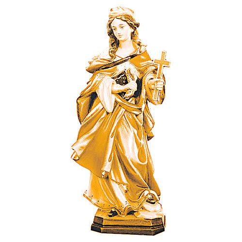 Sainte Marguerite avec croix bois différentes nuances brun 1