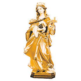 Santa Margherita con croce legno varie tonalità marroni s1