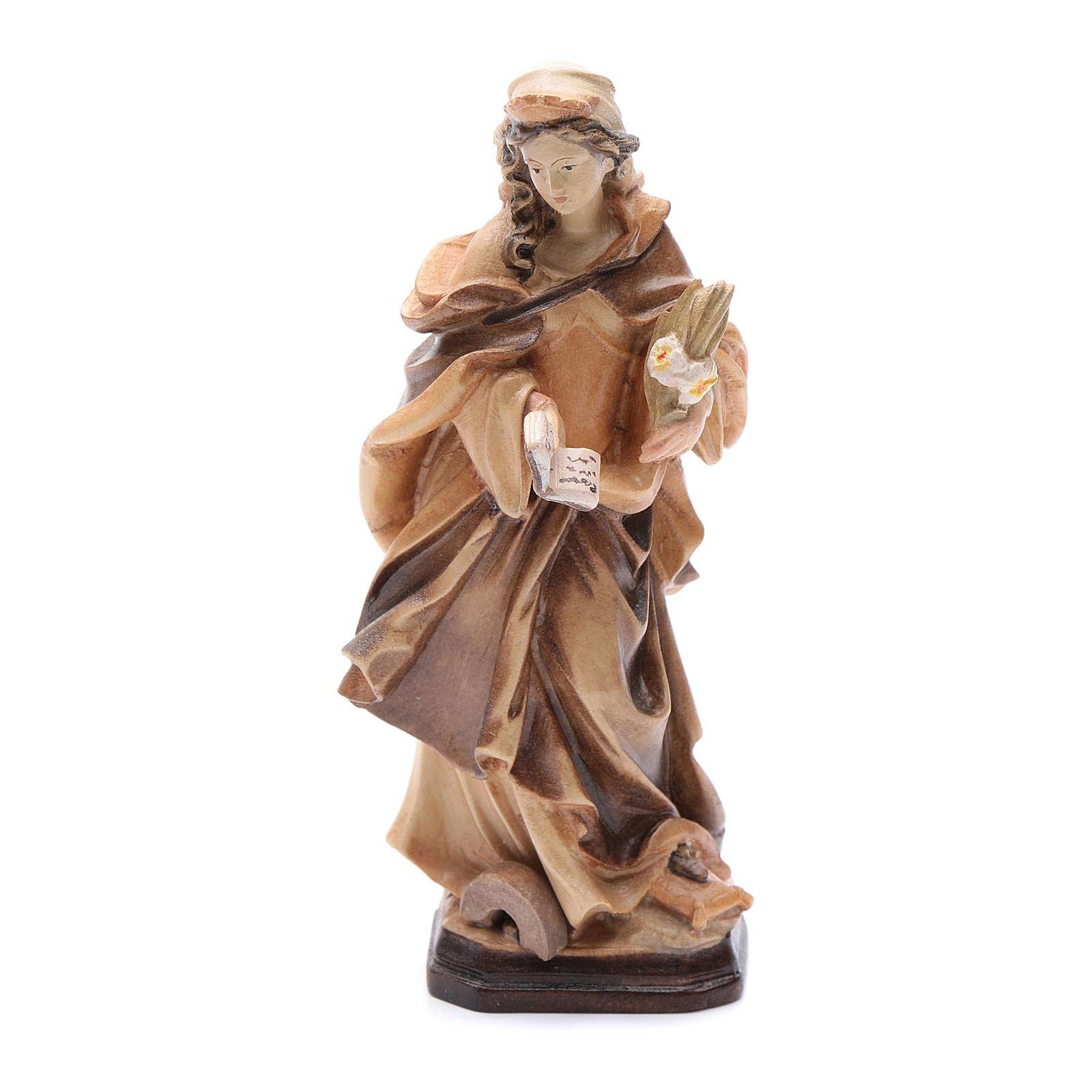 Santa Cristina con lettera fiori e libro in legno 4