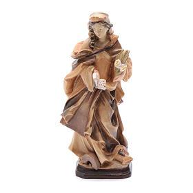 Santa Cristina con lettera fiori e libro in legno s1