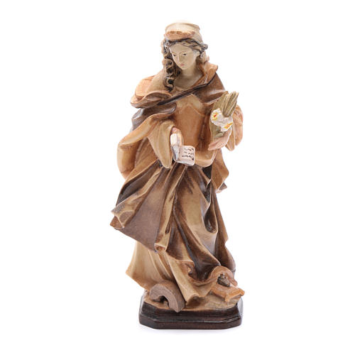 Santa Cristina con lettera fiori e libro in legno 1