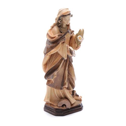 Santa Cristina con lettera fiori e libro in legno 3