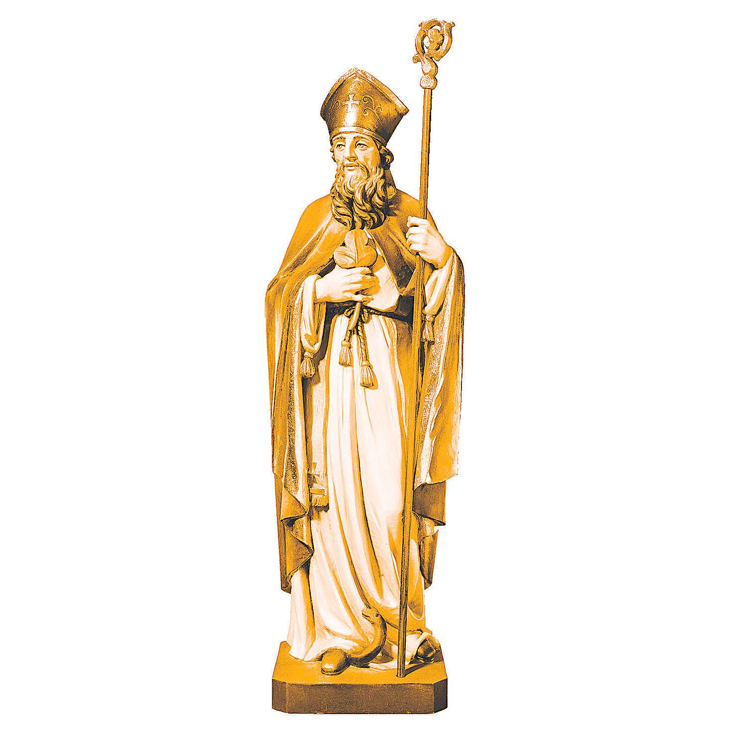 Statua di San Patrizio in legno differenti colori di marrone 4