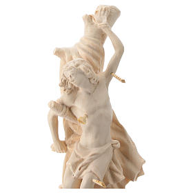 Saint Sebastian statue in natural Val Gardena wood s2