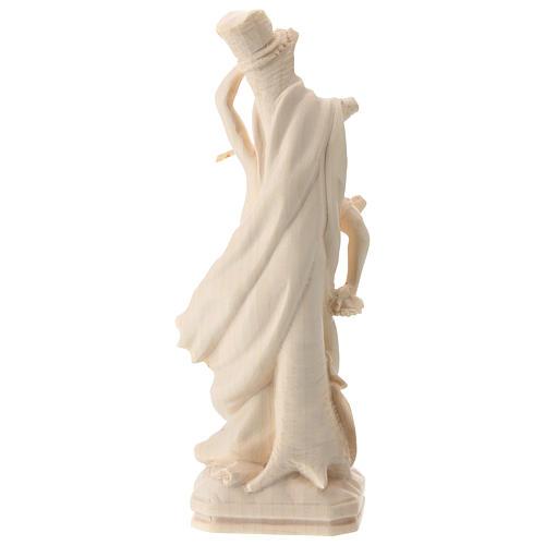 Saint Sebastian statue in natural Val Gardena wood 5