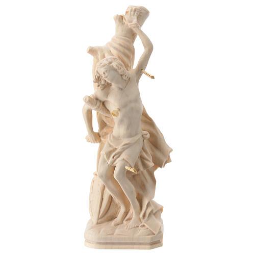 Saint Sébastien en bois naturel de la Valgardena 1