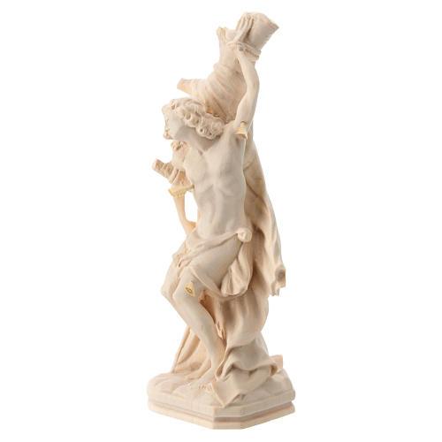 Saint Sébastien en bois naturel de la Valgardena 3