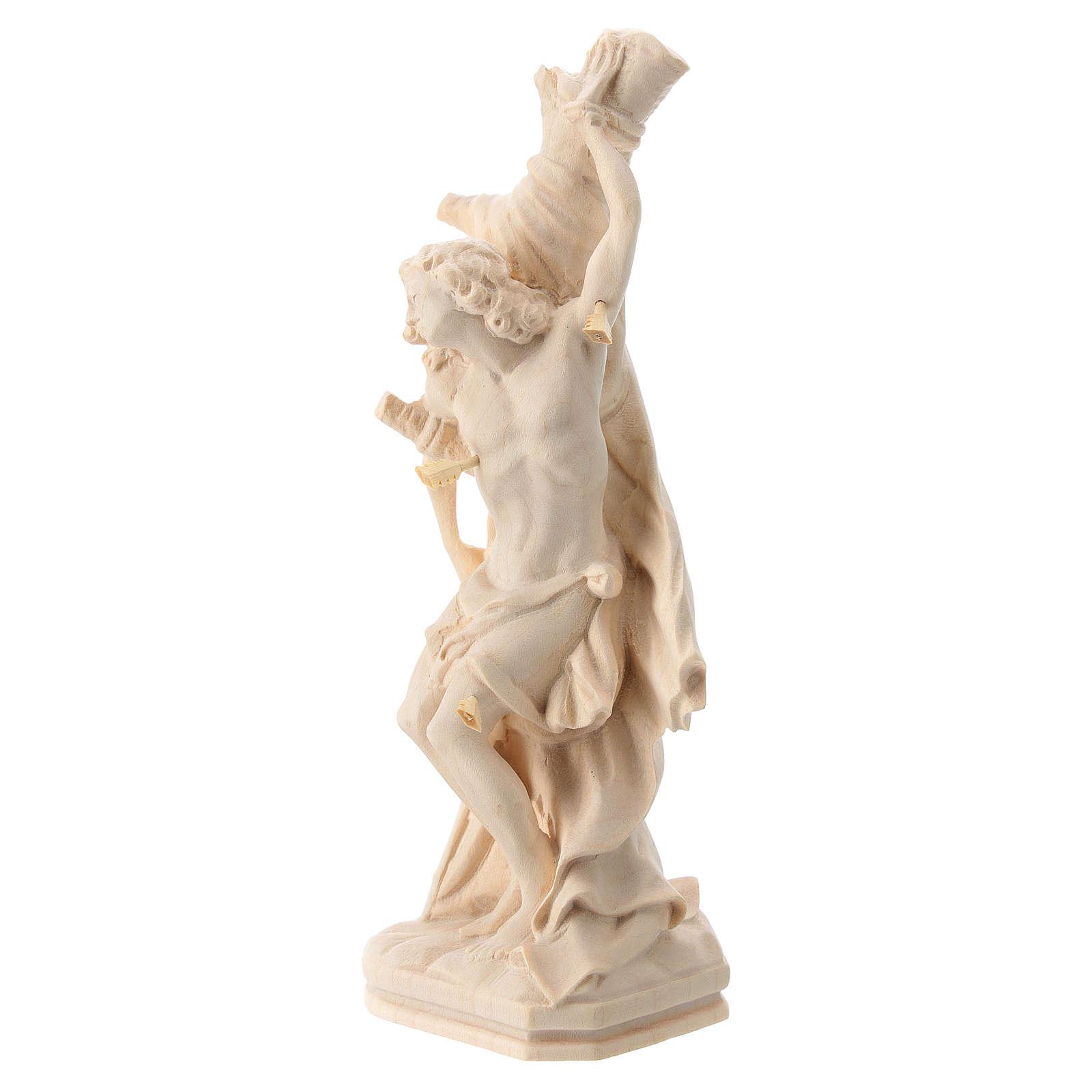 São Sebastião em madeira natural do Val Gardena 4