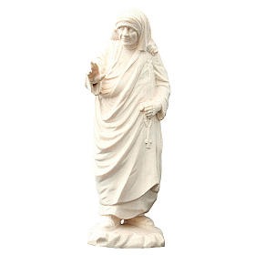 Imágenes de madera natural: Madre Teresa de Calcuta de madera natural de la Val Gardena