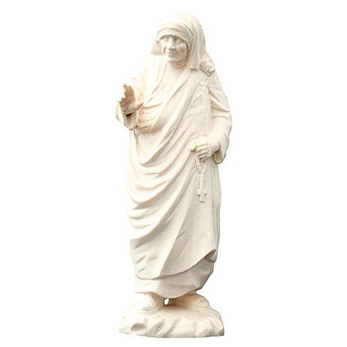 Madre Teresa di Calcutta legno Val Gardena naturale 1