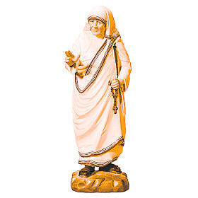 Imágenes de madera natural: Estatua Madre Teresa de Calcuta de madera, acabado con diferentes matices de marrón