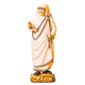 Statua Madre Teresa di Calcutta legno di marroni vari s1